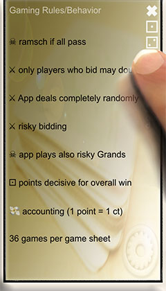 gaming rules of Skat app SkatGenie