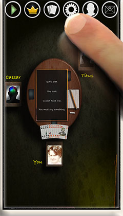 tapping game settings in gaming room of app SkatGenie